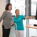 Balancepattform in der Geriatrischen Rehabilitationsklinik Ehingen